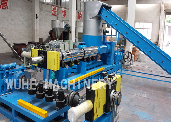 Double stage PE PP film pelletizing line
